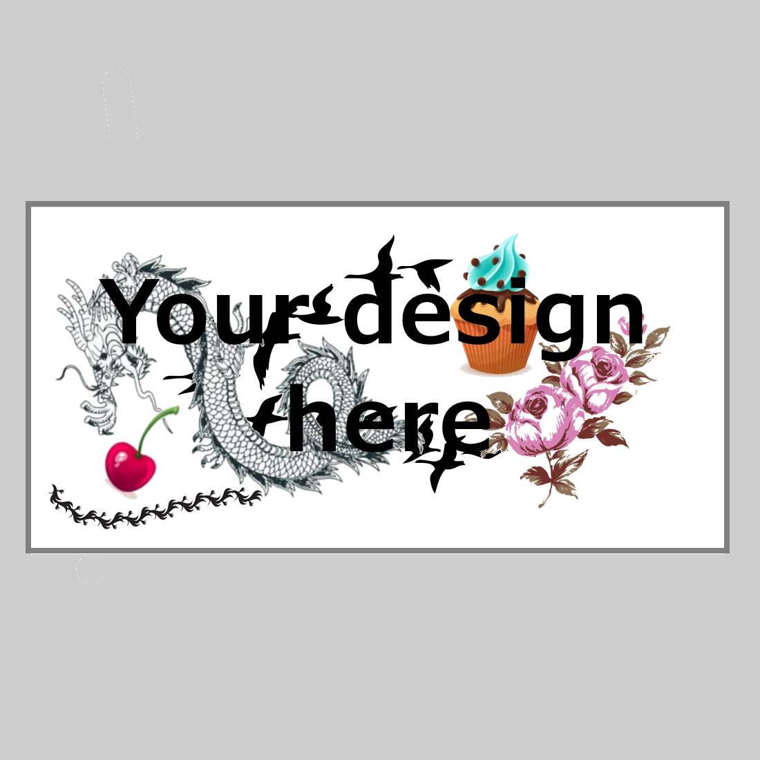 Start Your Tattoo Design: Custom Temporary Tattoo - Rectangle