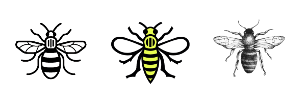 manchester bee tattoo appeal tattumi temporary tattoos. Black Bedroom Furniture Sets. Home Design Ideas