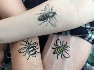 Manchester bee temporary tattoo