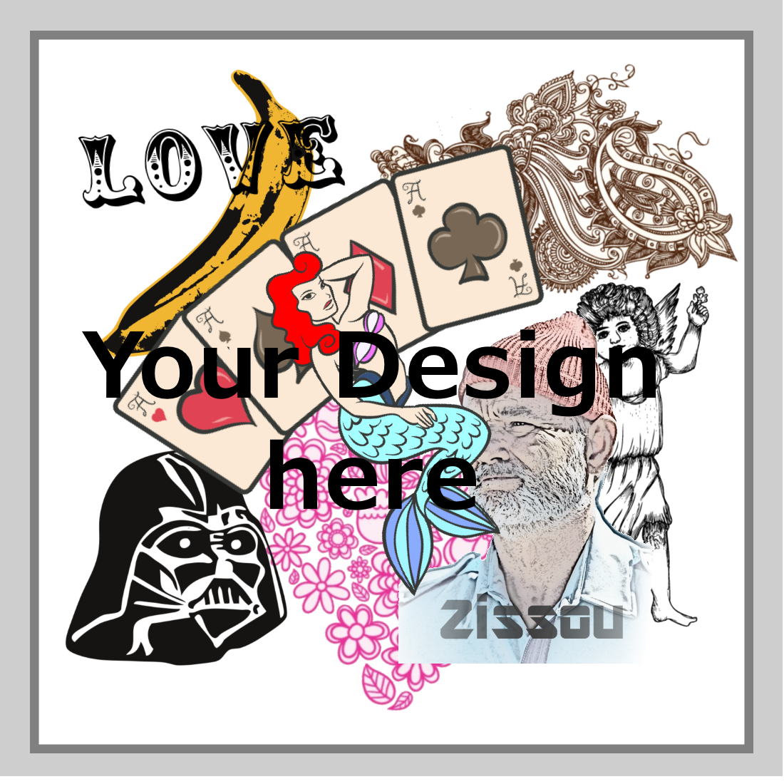 custom temporary tattoo image square
