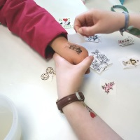 dylans ice cream temporary tattoos