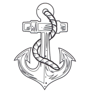 anchor temporary tattoo