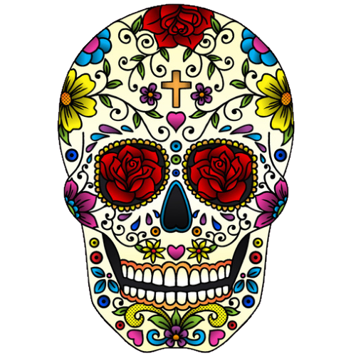 Sugar skull temporary tattoo