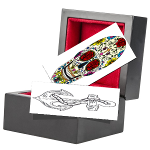 temporary tattoo gift box